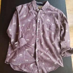 Graphic Print Button Up